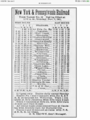 New York & Pennsylvania Railroad timetable, 1901.png