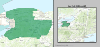 New Yorks 27th congressional district U.S. House District in Western New York State