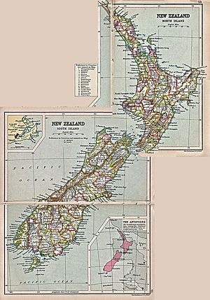Counties of New Zealand - Image: New zealand counties 1913