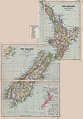 Counties of New Zealand - Image: New zealand counties 1913