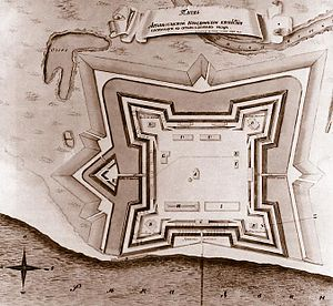 Arkhangelsk - Plan of New Dvina Fort in Arkhangelsk