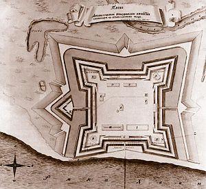 Arkhangelsk - Plan of New Dvina Fort in Arkhangelsk