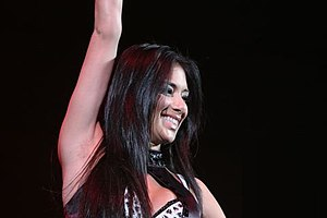 Nicole Scherzinger at the Tacoma Dome in Washi...