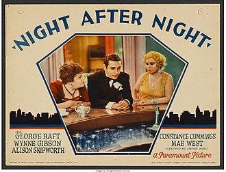 Night After Night (film) - Lobby card
