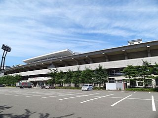 Niigata Athletic Stadium building in Chuo-ku, Niigata Prefecture, Japan