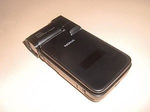 The Nokia N93i in its closed position