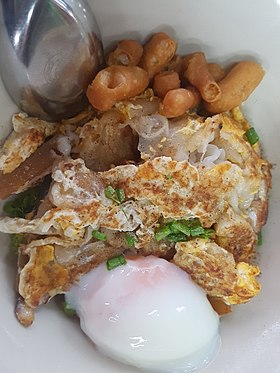 Noodles stir-fried with chicken - Bangkok - 2017-07-19 (002).jpg