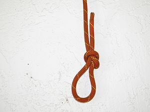 Noose - A noose knot tied in kernmantle rope