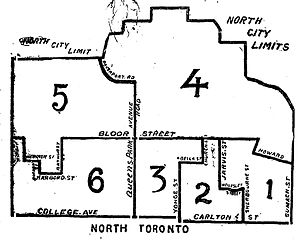 Toronto North (provincial electoral district) - Toronto North riding, created in 1894