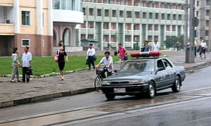 Law enforcement in North Korea - A North Korean police car in 2007.