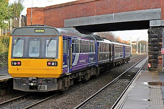 Northern Rail (Serco-Abellio) - Image: Northern Rail Class 142, 142071, Eccleston Park railway station (geograph 3795616)