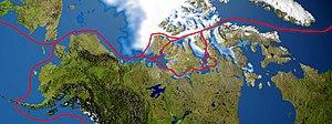 Northwest Passage routes