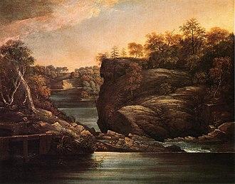 Norwich, Connecticut - Image: Norwich Falls John Trumbull c.1806