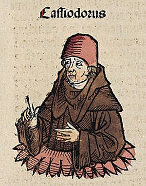 Eutharic - Cassiodorus (Woodcut from the Nuremberg Chronicle, 1493).