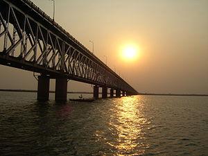 Godavari Bridge - The Godavari Bridge across Godavari River