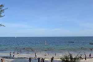 Nyali Beach from the Reef Hotel during high tide in Mombasa, Kenya 39.jpg