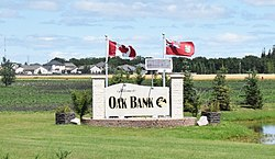 Welcome sign in Oakbank.