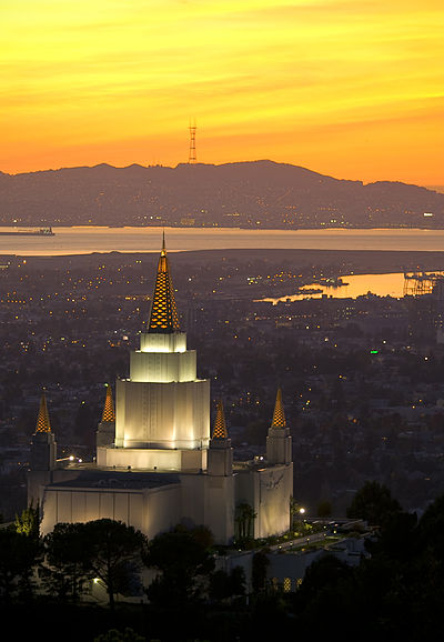 The Oakland California Temple at sunset Oakland Mormon Temple3.jpg
