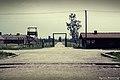 Obóz Birkenau barak oddziału Kanady zajmującego się wyprowadzaniem z wagonów przywiezionych więźniów.jpg