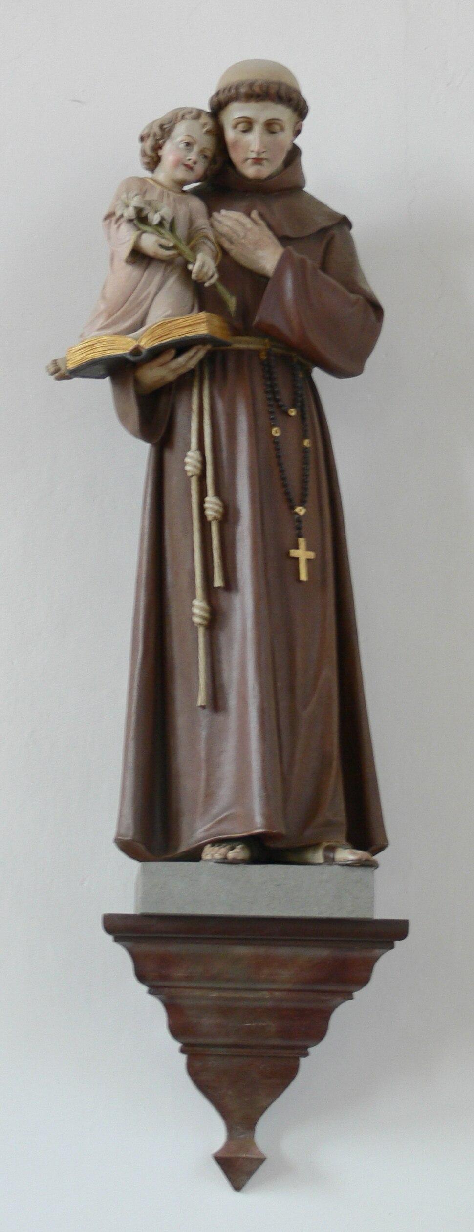 Oberzell Alte Kirche Antoniusfigur