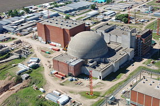 Atucha Nuclear Power Plant - The plant still under construction (2012).