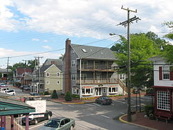 Mill Street, the center of Occoquan's historic and commercial district
