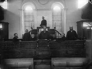 Officials of Y Ffor Chapel (CM), Y Ffor, Aber-erch (1887)