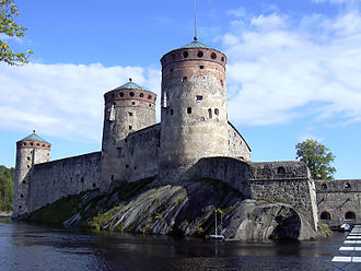 Olavinlinna - Olavinlinna has three towers remaining.