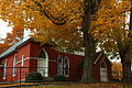 Old-methodist-church-brick-front-fall-trees - West Virginia - ForestWander.jpg