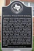 Old Mineral Wells High School, Mineral Wells, Texas Historical Marker (6965667077).jpg