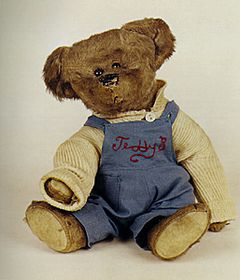 February 15: first teddy bear. Old Teddy Bear.jpg