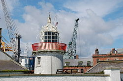 Old lighthouse, Greenore harbour - geograph.org.uk - 174323.jpg