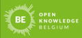 Open Knowledge Belgium logo - white on green.png