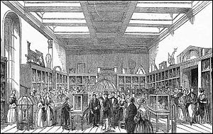 King George III Museum - Opening of the King George III Museum, King's College London, by Albert, Prince Consort on 1 July 1843.