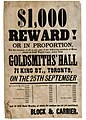 Or in proportion, for the recovery of all or any part of the following numbers of movements or gold watch cases, stolen from Goldsmith's Hall, 71 King Street, Toronto, on the 25th September. (8073775829).jpg