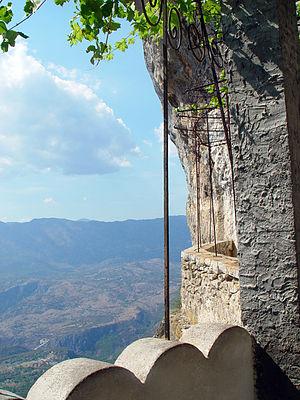 Bjelopavlići - View from Ostrog monastery to Bjelopavlići plain