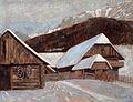 Otto Barth 1910, Bauernhaus im Winter.jpg