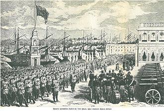 History of Batumi - Ottoman troops in Batum