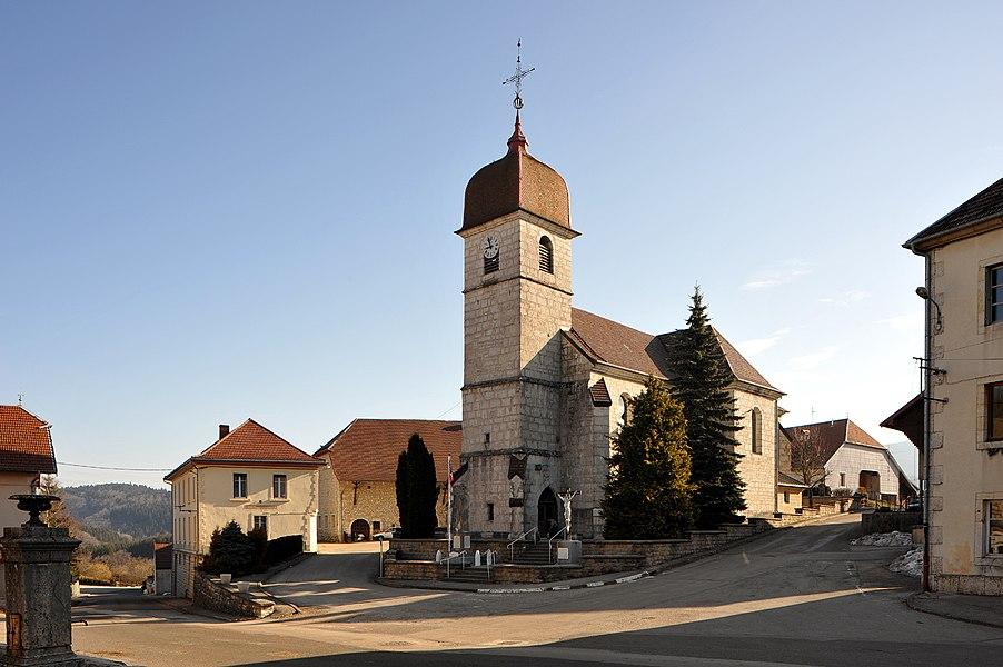 Ouhans, church Saint-Maurice; Franche-Comté, France.