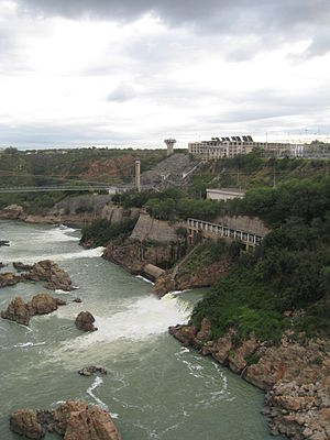 Paulo Afonso Hydroelectric Complex - A view of Paulo Afonso I, II and III