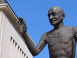 The centennial commemorative statue of Mahatma...