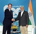 PM Narendra Modi and British PM David Cameron at the 2014 G-20 summit.jpg