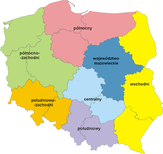 NUTS statistical regions of Poland