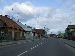 The principal street in Łyse
