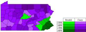 Pennsylvania gubernatorial election, 2002 - Democratic primary results by county