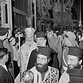 Paasviering Patriarch en priesters in de Heilige Graf kerk, Bestanddeelnr 255-5243.jpg
