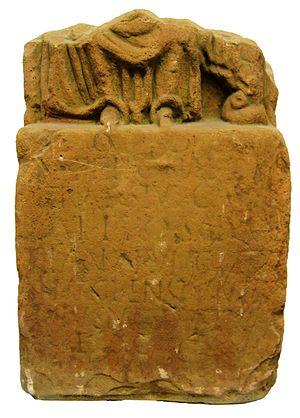 Ritona - The Contiomagus stone from Pachten. O.D. T.PRIITONAE. DI VINAE SIVE CA... IONI PRO SALVTE VICANORVM CONTI OMAGUS ENSIVMTER TINIUS MODESTVS F.C.V.S.