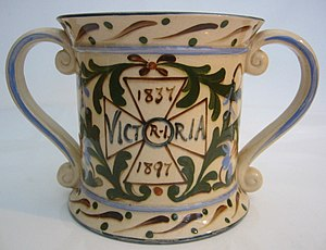 Loving cup - Porcelain loving cup made for Queen Victoria's 1897 Diamond Jubilee.