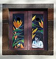 Painted window (Boy and Bird). Funchal, Madeira.jpg