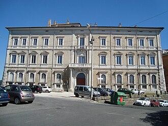 Felice della Rovere - Cancelleria (modern: Palazzo Sforza Cesarini, the location of Felice's marriage to Gian Giordano in 1506.